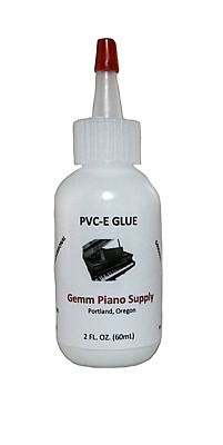 PVC-E GLUE ADHESIVE 2 oz for piano keytops keys piano repair
