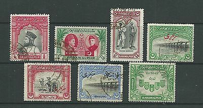 Bahawalpur 1947 + 1945 Officials useful small sln, g-f.u. Cat.£78.