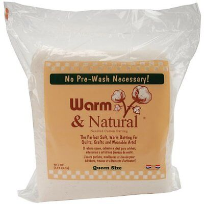 Warm Company Batting 90-In by 108-In Warm and Natural Cotton Batting, Queen 2090