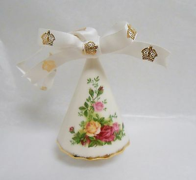 "Royal Albert Old Country Roses Christmas Tree 3"" h Hanging Ornament New in Box"
