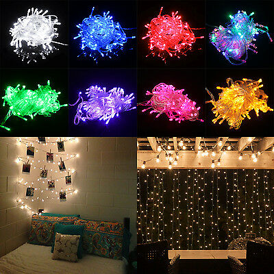 10M 100 LED Multifunction Holiday Christmas Party Fairy String Dorm Lights 110V