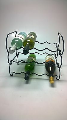NEW WINE ON BLACK Wine Rack for 12 Bottles Barware Kitchenware Wine Racks