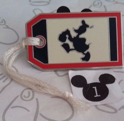 Donald Duck Luggage TAG Mystery Collection 2016 Travel Disney Pin Buy 2 Save $