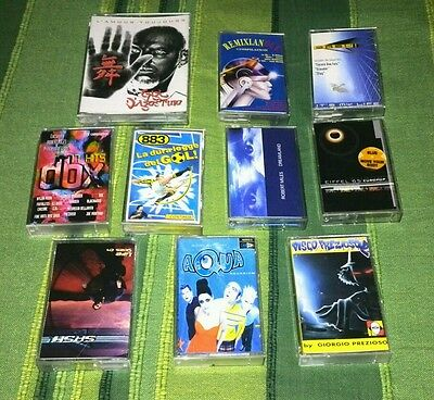 Lotto MC Cassette Musica Dance Techno Anni 90 2000 Originali