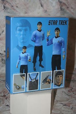 MR SPOCK STAR TREK  ACTION FIGURE ONE:12 SCALE ARTICULATED w/ACCESSORIES NEW!
