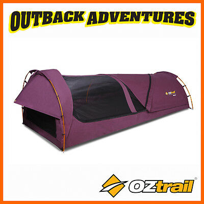 Oztrail Kokomo Purple King Single Canvas Dome Swag Ladies Swags