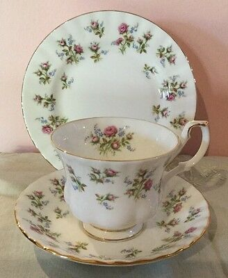 """Royal Albert """"Winsome"""" Cup, Saucer, Plate. Made In England. As New"""
