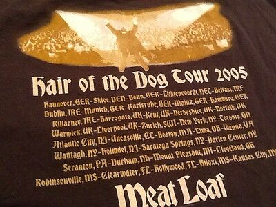 MEAT LOAF Hair of the Dog Tour 2005 Shirt - 2XL Brown Tee