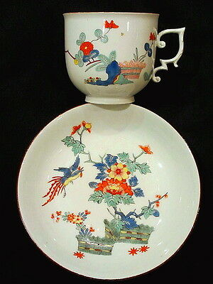 Fine Early Meissen Kakiemon Cup And Saucer, Circa 1730