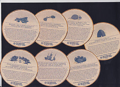 Collectable beer coasters -  Set of 7 Cascade Brewing Co. beer coasters