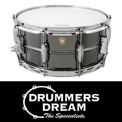 """Brand New Ludwig Black Beauty 14"""" x 6.5"""" Snare Drum Nickel-Plated Brass Shell"""