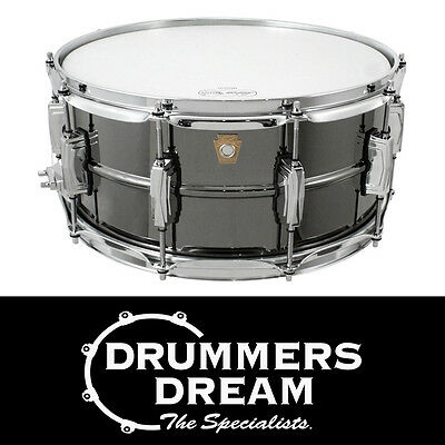 """Ludwig Black Beauty 14"""" x 6.5"""" Snare Drum Nickel-Plated Brass Shell RRP $1699"""