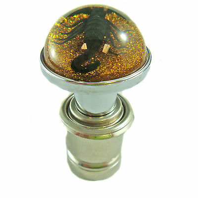 Gold Glitter Car Lighter with Dyed Black Scorpion (CL1103)