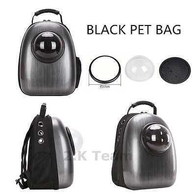 Astronaut Black Pet Cat Dog Carrier Travel Bag Space Capsule Backpack Breathable