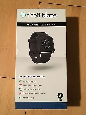 NEW! Fitbit Blaze Smart Fitness Watch Small Gunmetal Metal Series FB502GMBKS