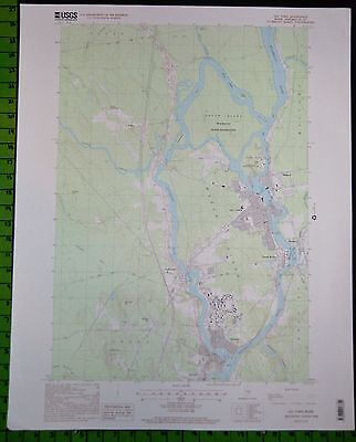 Old Town Maine USGS Topographic Map Printed 1998 22x27