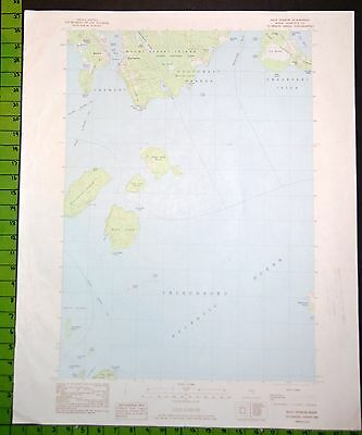 Bass Harbor Maine USGS Topographic Map Printed 1983 22x27