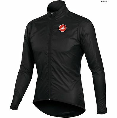 Castelli Squadra Long, Lightweight, Water Resistant, Cycling Jacket Black Large