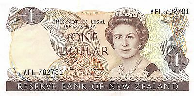 New Zealand  $1  ND. 1981  P 169a Series AFL circulated Banknote MSP29