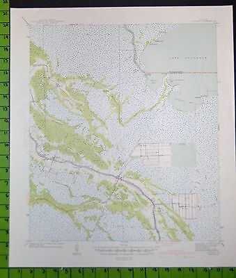 Cut Off Louisiana 1941 Topographic Map 18x21 Inches