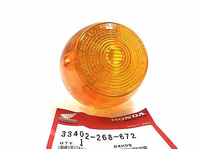 Genuine Honda NOS Turn Signal Indicator Winker Lens Pair 33402 268 672