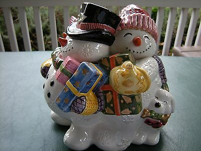 Fitz and Floyd Christmas - Frosty Folks Cookie Jar