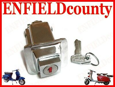 Brand New Vespa Chrome Plated Seat Lock With 2 Keys For Px Pe Models @aud