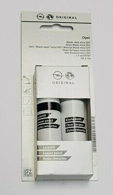 (57,08€/100ml) Opel Lackstift Onyx Schwarz  22Y Lack Stift Pinsel 95599787