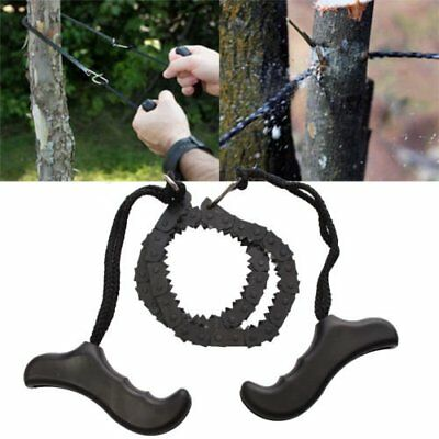 Outdoor Emergency Survival chain Saw Sawing Pocket Plastic handle Tools OP