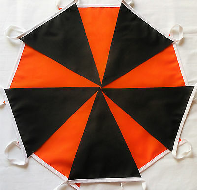 Halloween Black Orange 10 ft (3m) Bunting Banner Garland: Hull City, Wolves SALE