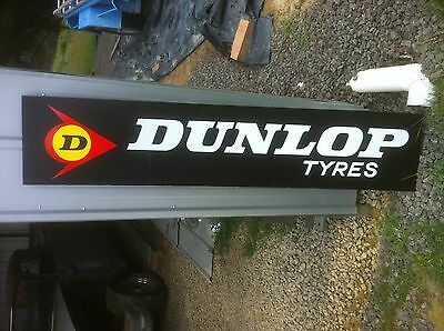 Hand Painted Dunlop Tyre Sign Using Enamel Paint