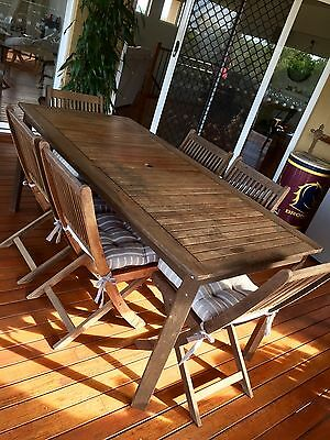 Outdoor Timber Dining Table ( 6 seats)