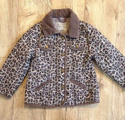 Lovely Girls Next Leopard Print Coat/jacket - Age 3-4 Years Old