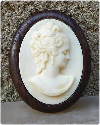 Rare Vintage Large Victorian Antique Carved Cameo Brooch Must see