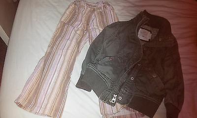 girls set jacket H&M and trousers Mothercare 3-4 years