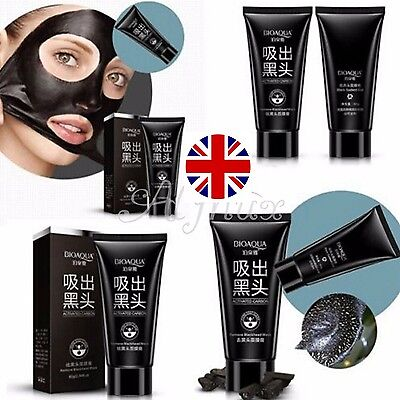 ACTIVATED CARBON Blackhead Remover Peel Off Deep Cleansing Black Face Mask 60g