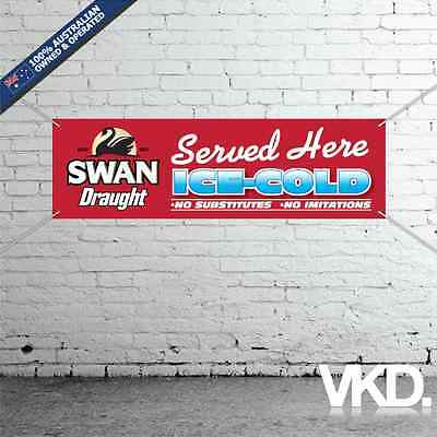 Swan Draught Banner - For Man Cave Work Shop Garage Shed Bar Sticker Beer WA