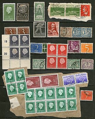 Netherlands Collection - Including Mint Blocks + Used Pairs + On Piece