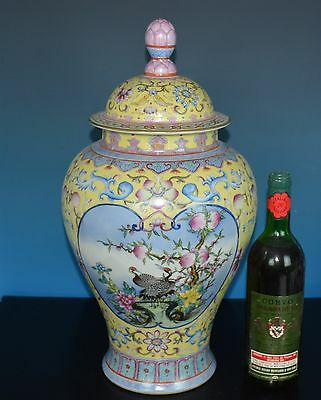 Magnificent Chinese Famille Rose Porcelain Vase Marked Qianlong R7895