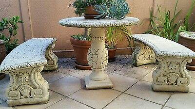 French Provincial style Garden setting furniture Table 2 Benches VINTAGE