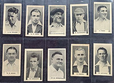 Godfrey Phillips Test Cricketers 1932-33 Cigarette Cards
