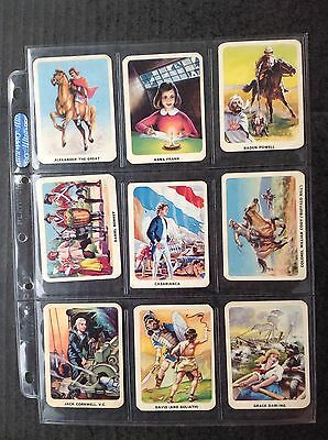 Nabisco Vita Brits Young Heroes And Heroines 1963 Set/30 Trade Cards