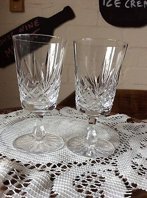 2 Cut Glass Liquor Glasses