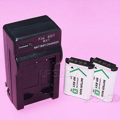 Lot of High Power 1260mAh Battery House Charger f Sony Cyber-shot DSC-RM2 Camera