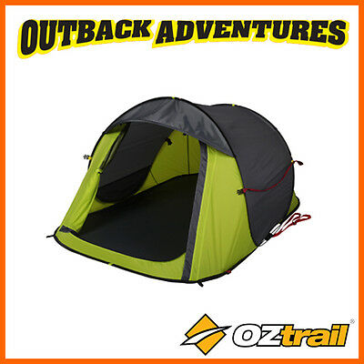 Oztrail Blitz 2 Pop Up Tent 2 Person Instant Quick Pitch Tent