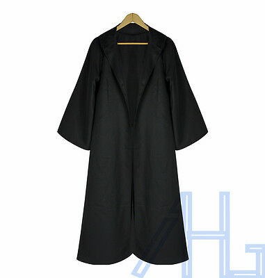 Adult Hooded Cloak Wicca Robe Medieval Witchcraft Cape Christmas Fancy Dress
