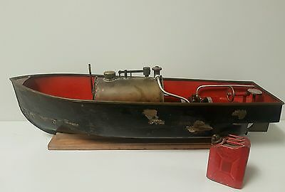 Antique Steel Steam Boat Model Ship 1900s Steamboat Real Action Unique Model