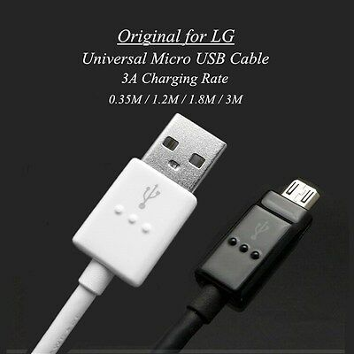 37f103ddf40705 Original Quick Charge Micro USB Cable 20AWG for LG V10 G4 G3 G2 Mini K10 K8