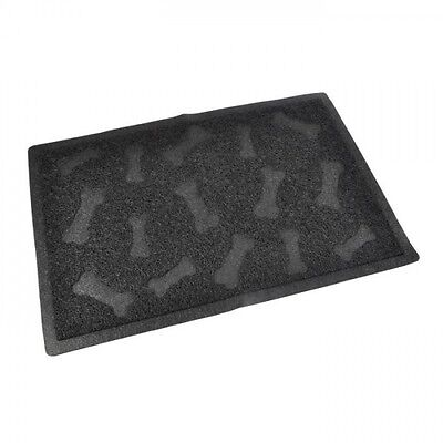 Tapis de litiere PVC rectangle - 40x60 cm - Noir - Pour chat