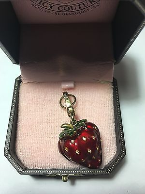 Juicy Couture Charm - Pave Strawberry YJRU1464 with case